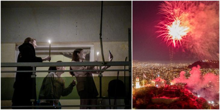 Πυροτεχνήματα φώτισαν τον ουρανό της Αθήνας